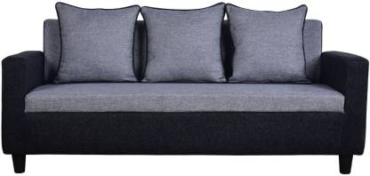 Handys Albion Herostyle Three Seater Sofa (Grey-Black) Fabric 3 Seater Sofa