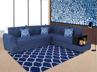 Handys Alfred Fabric 6 Seater Sofa in Blue Fabric 6 Seater Sofa