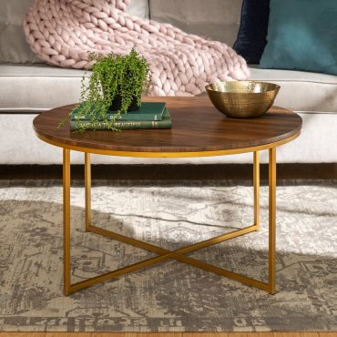 Silver-Orchid-Helbling-36-inch-Round-Coffee-Table-Gold-Metal-X-base-for-Living-Room-36-x-36-x-19H-15e2b22e-4f71-495e-a9a7-6baa40cf216c