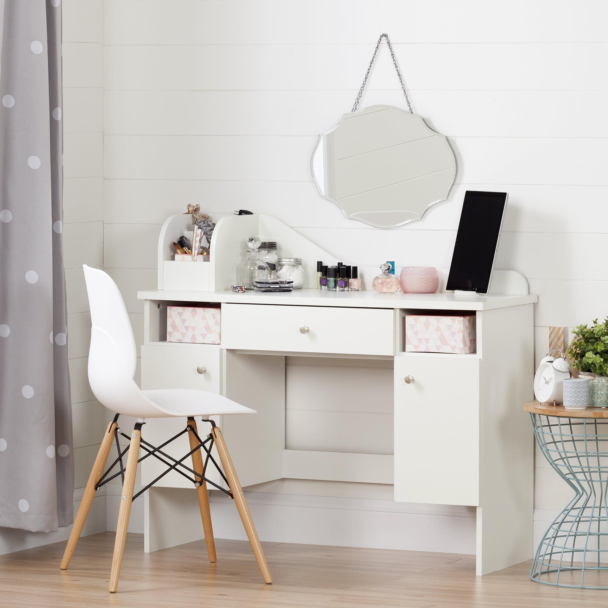 Handys Colora White Makeup Desk With Drawer Handys Co Furniture